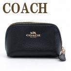 コーチ COACH ポーチ コスメポーチ 化粧ポーチ レザー 53384IMBLK