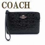 ショッピングコーチ コーチ COACH ポーチ ハンドポーチ リストレット クラッチ 財布 ハンドバッグ シグネチャー レディース 58034IMBLK