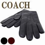 コーチ COACH メンズ グローブ 手袋 レザー カシミヤ混 85850