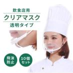クリアマスク 飲食店10個セット 透明マスク プラスチック 口マスク 衛生マスク 飛沫カット ウイルス対策