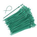 200本 ビニールタイ ソフトワイヤー 植物用 添え木 誘引 結束ロープ ガーデン 家庭用 固定ワイヤー (200本 17cm)