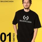 バレンシアガ BALENCIAGA Tシャツ 半袖 ロゴ プリント クルーネック ローレル NEW BB LOGO ブランド メンズ トップス 月桂冠 BC556148TDV51
