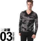 AKMコンテンポラリー AKM Contemporary セーター アンゴラ混 カモフラ総柄 Vネック ニット AKMASK605