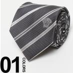 ヴェルサーチ VERSACE ベルサーチ シルク100% ロゴ刺繍 レジメンタルストライプ ネクタイ ブランド メンズ 男性 VC11720005