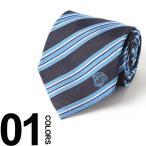 ヴェルサーチ VERSACE ネクタイ シルク メデューサ ストライプ BLUE ブランド メンズ 紳士 ビジネス 雑貨 VCP07860001