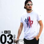 モンクレール MONCLER Tシャツ ロゴ刺繍 クルーネック 半袖 MC80350508390T