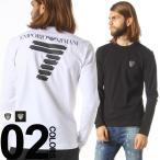 アルマーニ EMPORIO ARMANI EA7 エンポリオアルマーニ バックロゴプリント 胸ロゴ クルーネック 長袖 Tシャツ EA6XPT83PJ18Z