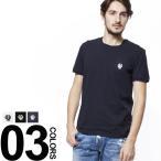 ドルチェ&ガッバーナ DOLCE&GABBANA ドルガバ Tシャツ ワンポイントエンブレム刺繍 クルーネック 半袖 DGN8A03JO0020S メンズ ブランド