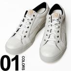 ディーゼル DIESEL レザー ブレイブマンプリント ローカット スニーカー DSY01107P0878 メンズ ブランド