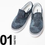 ディーゼル DIESEL スリッポン スニーカー 靴 クラッシュ加工 デニム DSY01049P1234 ブランド メンズ 2017春夏 新作