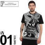 ヴェルサーチ コレクション VERSACE COLLECTION Tシャツ 半袖 フロントプリント ブランド メンズ VCV800683VJ0492