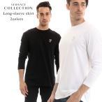 ヴェルサーチ コレクション VERSACE COLLECTION Tシャツ 長袖 ロンT ロゴ 刺繍 メンズ ブランド カットソー VCV80491RVJ0180 Tshirts