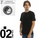 ヴェルサーチ コレクション VERSACE COLLECTION Tシャツ 半袖 ロゴ クルーネック メンズ ブランド VCV80683R1VJ180 Tshirts