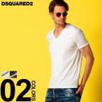 ディースクエアード DSQUARED2 Tシャツ 半袖 ストレッチ ロゴ プリント Vネック ブランド メンズ トップス カットソー D2DCM450030