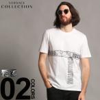 ヴェルサーチ コレクション VERSACE COLLECTION Tシャツ 半袖 ロゴ プリント クルーネック ブランド メンズ トップス VCV800683RVJ576