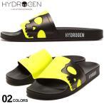 ハイドロゲン HYDROGEN ネオンイエロー スター×スカル スライドサンダル ブランド メンズ サンダル シャワーサンダル HY225910