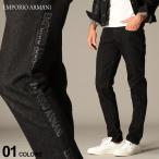 エンポリオ アルマーニ メンズ デニムパンツ EMPORIO ARMANI ロゴ プリント ボタンフライ ジーンズ ブランド ボトムス デニム ジーパン EA6H1J751DP3Z
