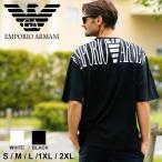 エンポリオアルマーニ メンズ 半袖 Tシャツ EMPORIO ARMANI バックプリント ビッグシルエットロゴ クルーネック ブランド トップス コットン EA2118391P476