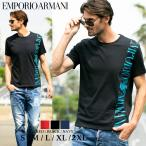 エンポリオアルマーニ メンズ EMPORIO ARMANI Tシャツ 半袖 ビッグ ロゴ プリント ブランド トップス コットン 黒 赤 紺  EA2118311P469