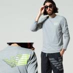エンポリオアルマーニ EA7 EMPORIO ARMANI イーグル ロゴ バックプリント クルーネック 長袖 Tシャツ ブランド トップス ロンT EA6KPT33PJ9TZ