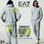 エンポリオアルマーニ EA7 メンズ EMPORIO ARMANI イーグル ロゴ バックプリント パーカー パンツ スウェット セットアップ ブランド EA6KPM47PJ05Z