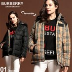 BURBERRY (バーバリー) リバーシブル ヴィンテージチェック フーディー 中綿 ジャケット BBL8018766
