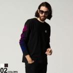 モンクレール メンズ MONCLER 袖 ロゴ ワッペン グラデーション クルーネック 長袖 Tシャツ ブランド トップス ロンT MC8D00011829H8
