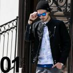 ディーゼル DIESEL シングルライダースジャケット ナイロン デニム フルジップ DSSVLULANN メンズ ブランド 2017春夏 新作