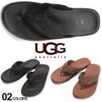 UGG Australia (アグ オーストラリア) レザー ロゴ ビーチサンダル SEASIDE FLIP LEATHER UGG1102690