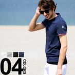 モンクレール MONCLER Tシャツ メンズ 袖ロゴワッペン トリコロールライン入り Vネック 半袖 MC810080087296 2017春夏 新作 ブランド メンズ