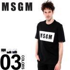MSGM エムエスジーエム Tシャツ 半袖 ボックスロゴ プリント ブランド メンズ MS2440MM67