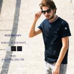 モンクレール MONCLER Tシャツ 半袖 トリコロールリブ ブランド メンズ MC80283008390Y