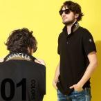 モンクレール MONCLER ポロシャツ 半袖 鹿の子 コットン 襟裏 ロゴ ブランド メンズ トップス ポロ プリント MC830515084556