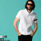 モンクレール メンズ ポロシャツ 半袖 MONCLER 鹿の子 リフレクター トリコロール ライン ロゴ ワッペン ブランド トップス コットン MC8A7090084556