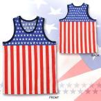 タンクトップ アメリカ国旗柄タンクトップ USA タンクトップ 星条旗 衣装 米国 仮装 コスプレ パーティー おもしろい