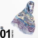 エトロ ETRO シルク混 ペイズリー柄 ストール ブランド メンズ 11777-5027-400 スカーフ