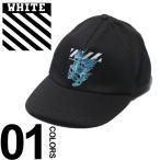 オフホワイト OFF-WHITE キャップ コットン スカル プリント アジャスター SKULLS ブランド メンズ 帽子 OWLB08S19400017