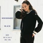 モンクレール MONCLER ニット セーター カシミヤ混 ウール クルーネック ブランド レディース トップス リブライン MCL90503009489Z