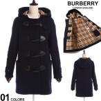 バーバリー ダッフルコート レディース BURBERRY コート ウール メルトン バーバリーチェック ダッフル 紺 ブランド アウター BBL8021887
