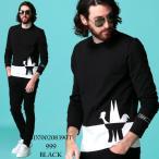 モンクレール メンズ Tシャツ 長袖 MONCLER ロンT バイカラー ロゴ クルーネック ブランド トップス カットソー コットン MC8D700208390T