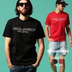 ディースクエアード メンズ Tシャツ DSQUARED2 半袖 ロゴ プリント クルーネック ブランド トップス プリントT D2GD0644S22844