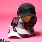 ハイドロゲン メンズ キャップ HYDROGEN スカル プリント ロゴ 刺繍 メッシュキャップ スナップバック ブランド 帽子 ドクロ HY26590020