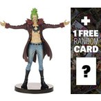 "ワンピース  Bartolomeo (Blue Jeans): ~7.7"" One Piece DXF Jeans Freak #11 + 1 FREE Official One Piece Trading Card Bundle (364002) 正規輸入品"