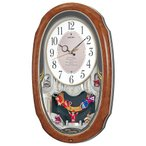 カラクリ時計 SEIKO セイコー 電波クロック 掛け時計 AM213H ギフト 贈答品 新築祝い