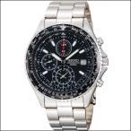 セイコー SEIKO パイロットクロノグラフ メンズ腕時計 ブラックフェイス SND253PC