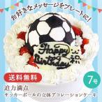 誕生日ケーキ バースデーケーキ サッカーボールの立体デコレーションケーキ 7号 プレゼント お取り寄せ