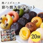 ショッピングスイーツ 池ノ上ピエール 彩り焼き菓子セット 20個 父の日 ギフト スイーツ 詰め合わせ フィナンシェ
