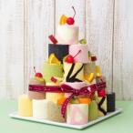 誕生日ケーキ バースデー パーティー 積み上げて楽しい ロールケーキタワー(キャンドル付き) お取り寄せ