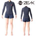 ZEAK(ジーク) ウェットスーツ レディース 女性用 長袖 タッパー ジャケット ウエットスーツ サーフィンウエットスーツ ZEAK WETSUITS