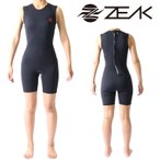 ZEAK(ジーク) ウェットスーツ レディース 女性用 ショートジョン ウエットスーツ サーフィン ウエットスーツ ZEAK WETSUITS